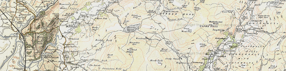 Old map of Withe Bottom in 1903-1904