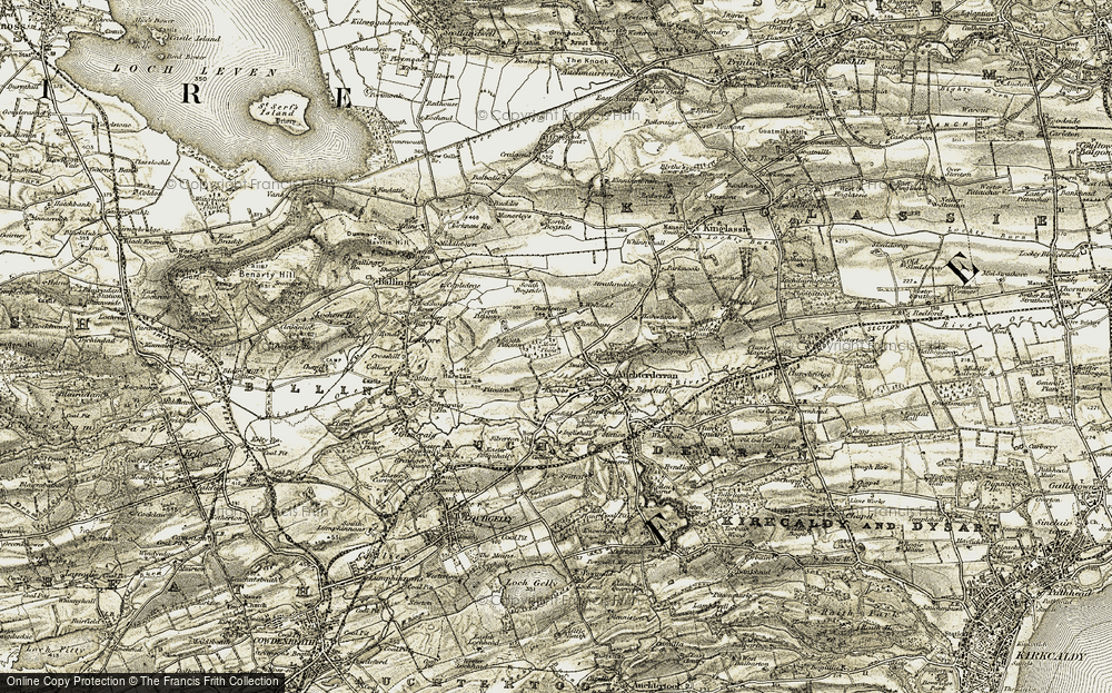 Old Map of Woodend, 1903-1908 in 1903-1908