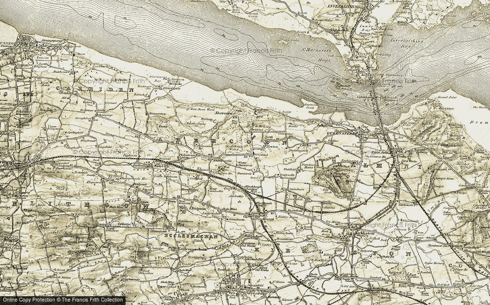 Old Map of Woodend, 1904-1906 in 1904-1906