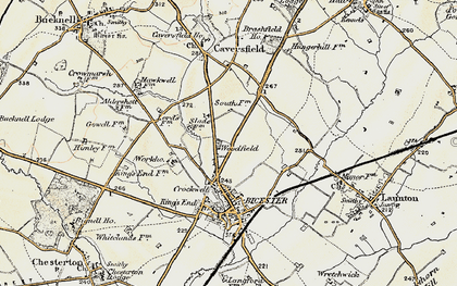 Old map of Woodfield in 1898-1899
