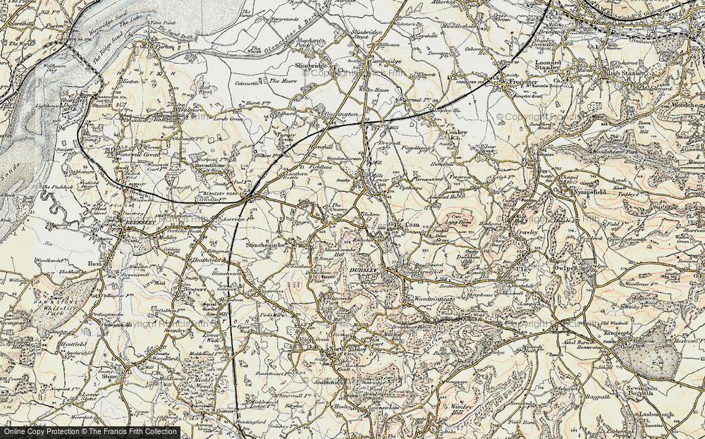 Old Map of Woodfield, 1898-1900 in 1898-1900