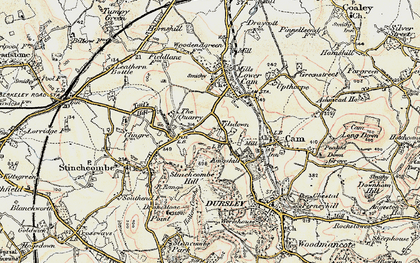 Old map of Woodfield in 1898-1900