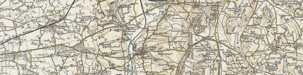 Old map of Westgate Hill in 1898-1900