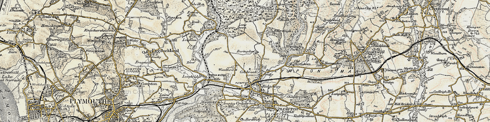 Old map of Woodford in 1899-1900