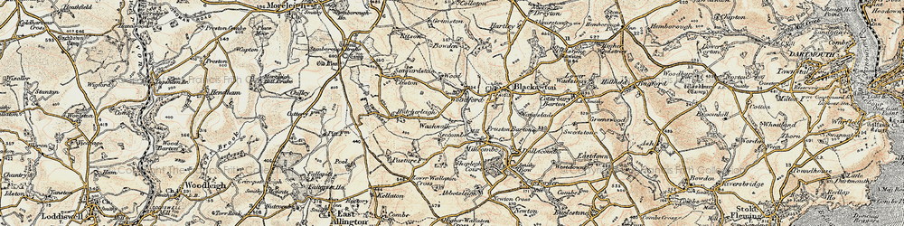 Old map of Woodford in 1899