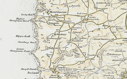 Old map of Lee Barton in 1900