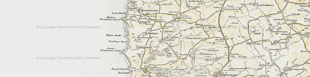 Old map of Woodford Cross in 1900