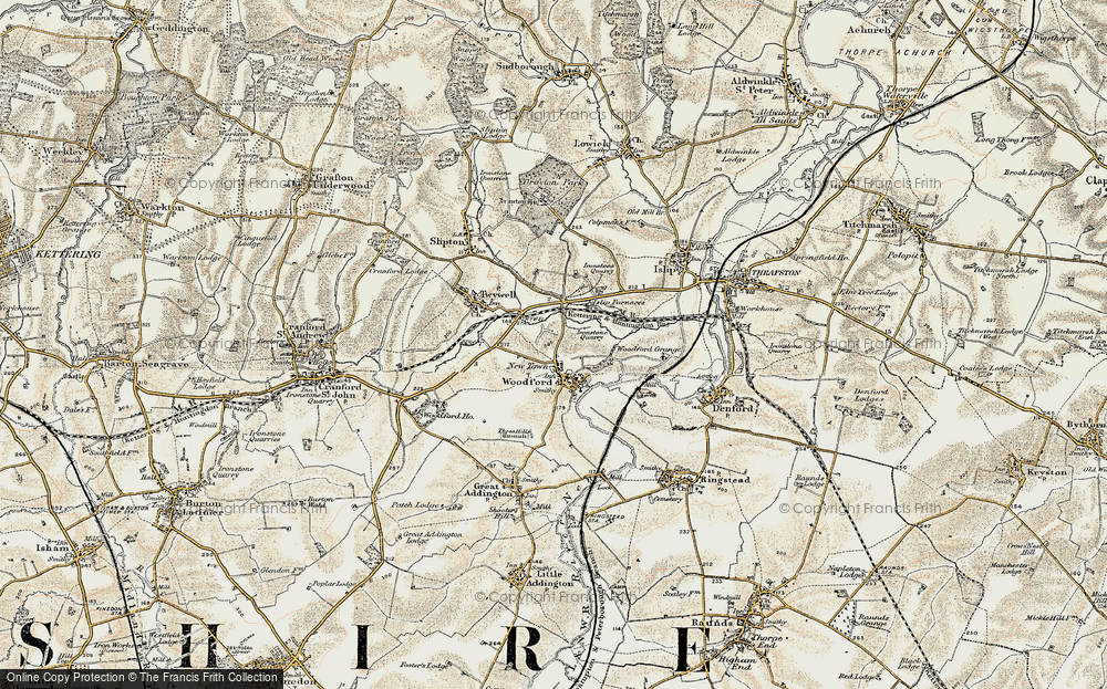 Old Map of Woodford, 1901-1902 in 1901-1902