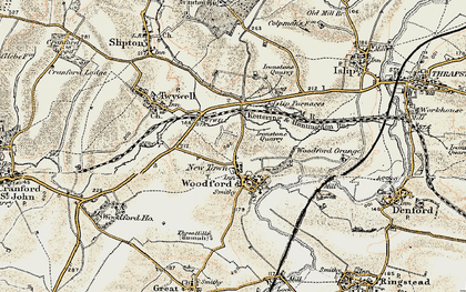 Old map of Woodford in 1901-1902