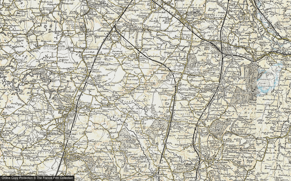 Old Map of Woodford, 1902-1903 in 1902-1903
