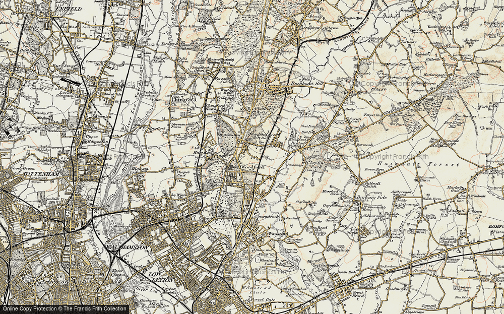 Old Map of Woodford Green, 1897-1898 in 1897-1898