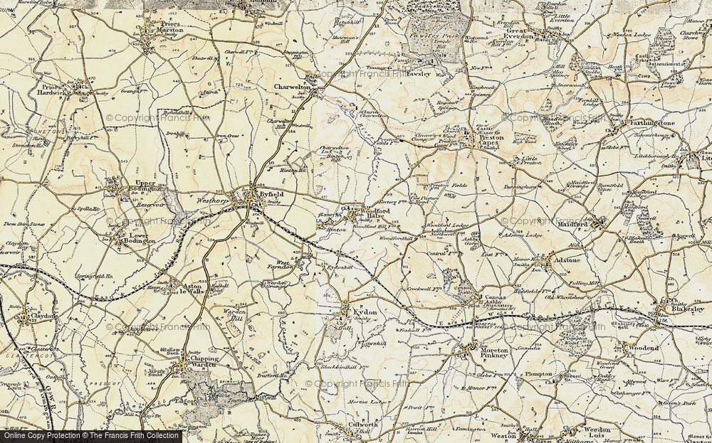 Old Map of Historic Map covering Woodford Lodge in 1898-1901