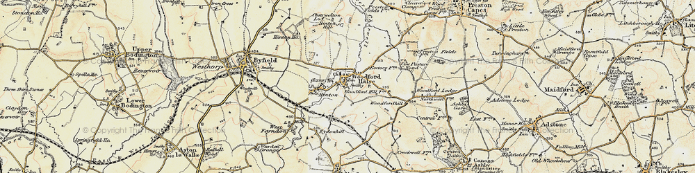 Old map of Woodfordhill in 1898-1901