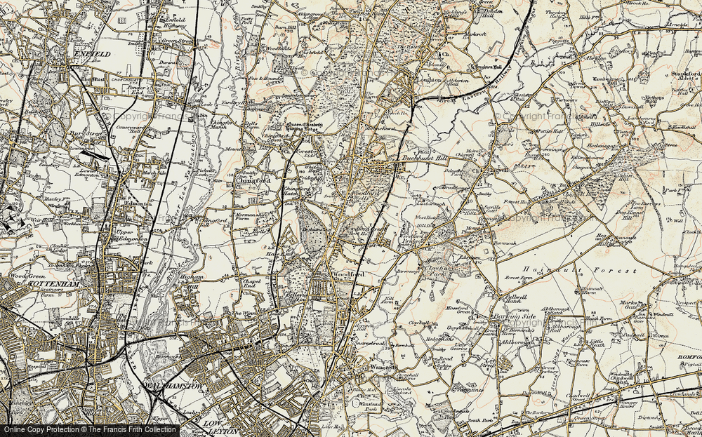 Old Map of Woodford Wells, 1897-1898 in 1897-1898