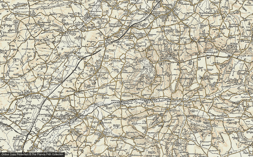 Old Map of Woodgate, 1898-1900 in 1898-1900
