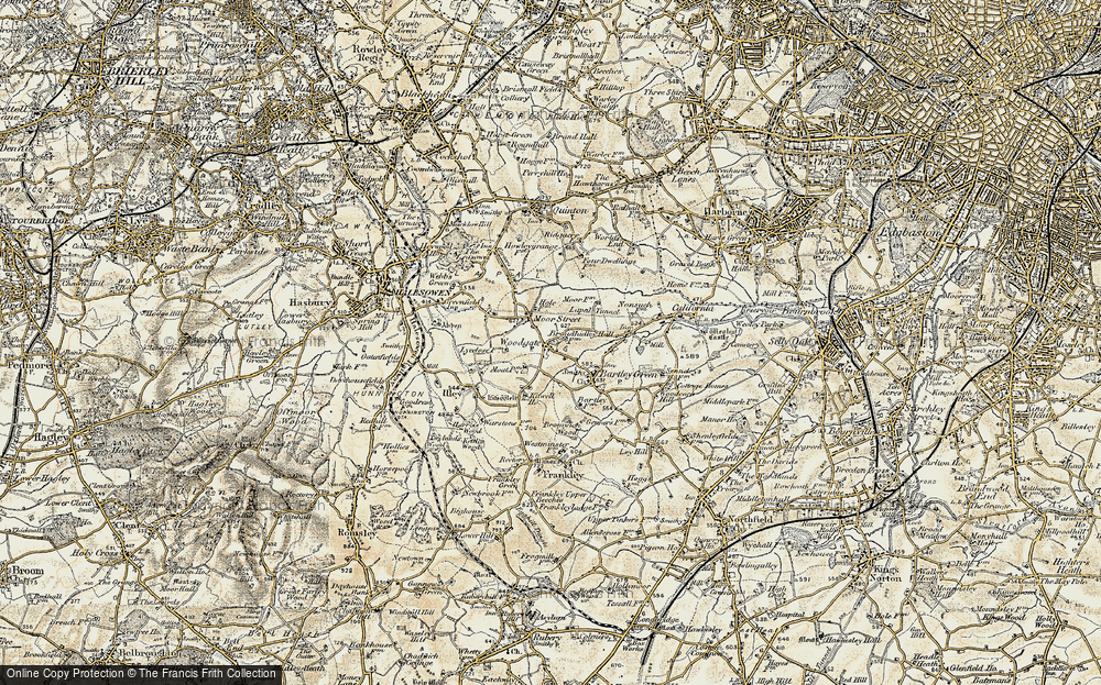 Old Map of Woodgate, 1901-1902 in 1901-1902