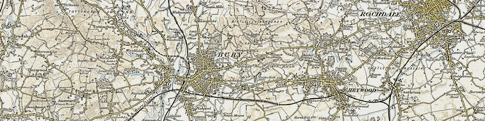 Old map of Woodgate Hill in 1903