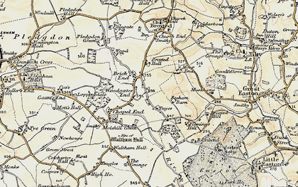 Old map of Woodgates End in 1898-1899