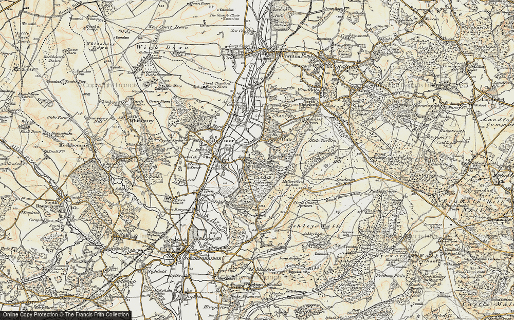 Old Map of Woodgreen, 1897-1909 in 1897-1909