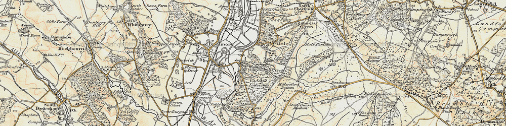 Old map of Woodgreen in 1897-1909