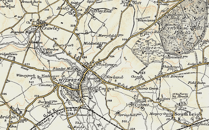 Old map of Woodgreen in 1898-1899