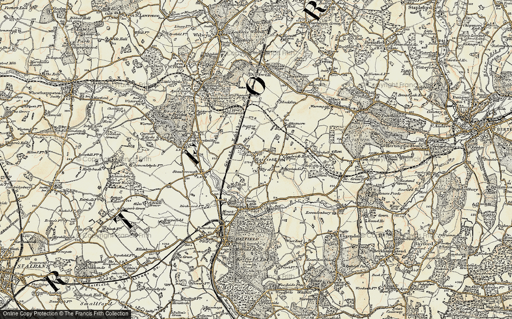 Old Map of Woodhall, 1898 in 1898