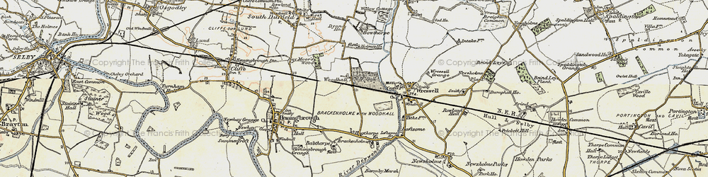 Old map of Woodhall in 1903