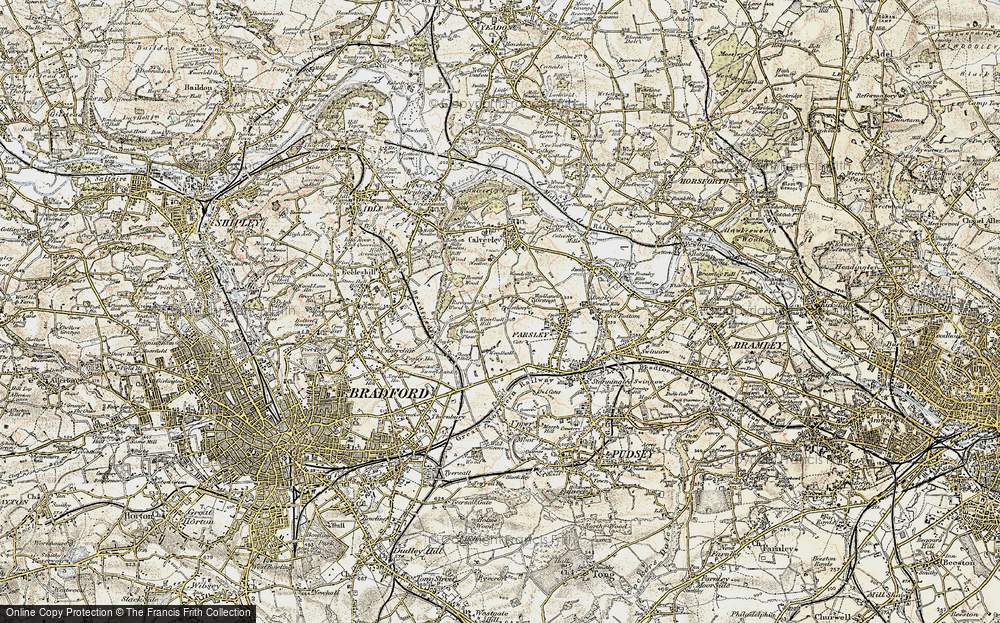Old Map of Woodhall Hills, 1903-1904 in 1903-1904