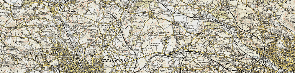 Old map of Woodhall Hills in 1903-1904