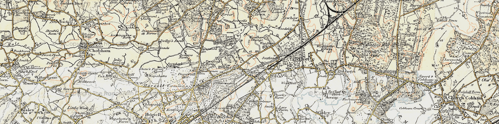 Old map of Woodham in 1897-1909