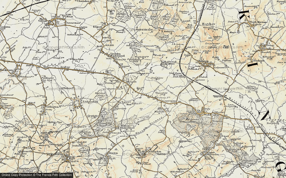 Old Map of Woodham, 1898 in 1898