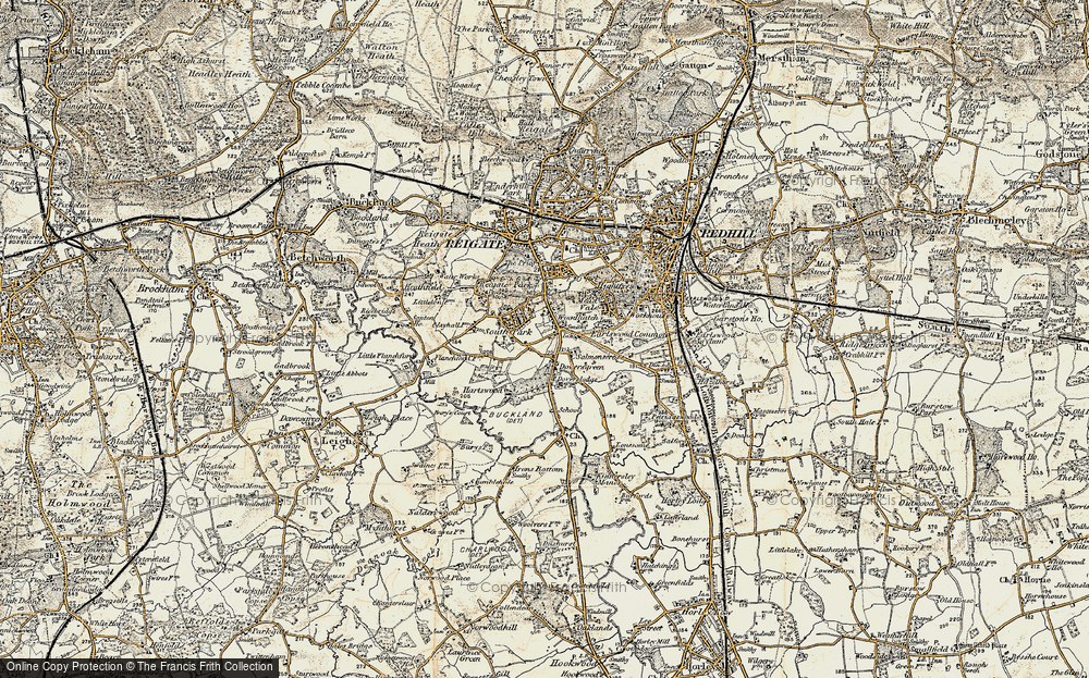 Old Map of Woodhatch, 1898-1909 in 1898-1909