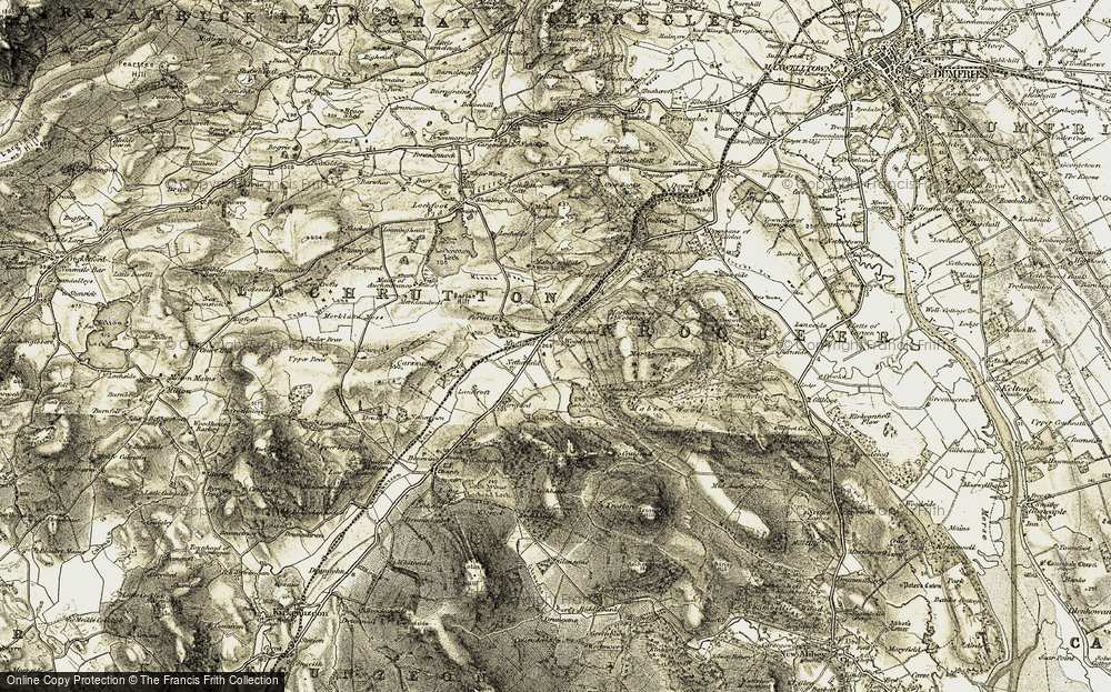 Old Map of Woodhead, 1901-1905 in 1901-1905
