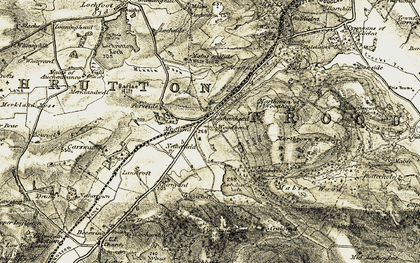Old map of Woodhead in 1901-1905