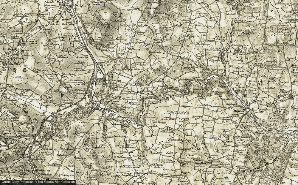 Old Map of Historic Map covering Banks in 1909-1910