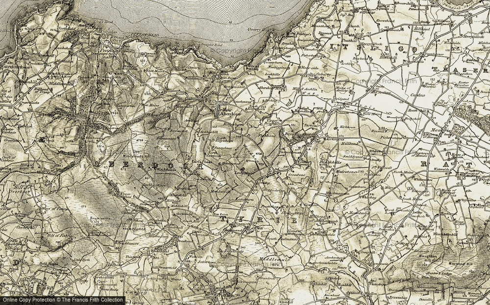 Old Map of Woodhead, 1909-1910 in 1909-1910