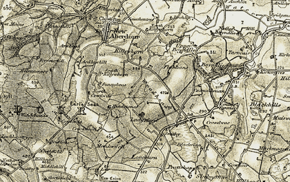 Old map of Woodhead in 1909-1910