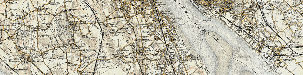 Old map of Woodhey in 1902-1903