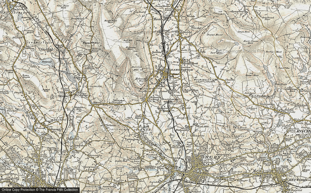 Old Map of Woodhey, 1903 in 1903