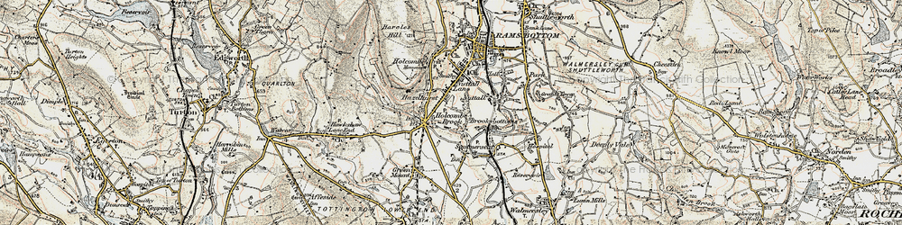 Old map of Woodhey in 1903