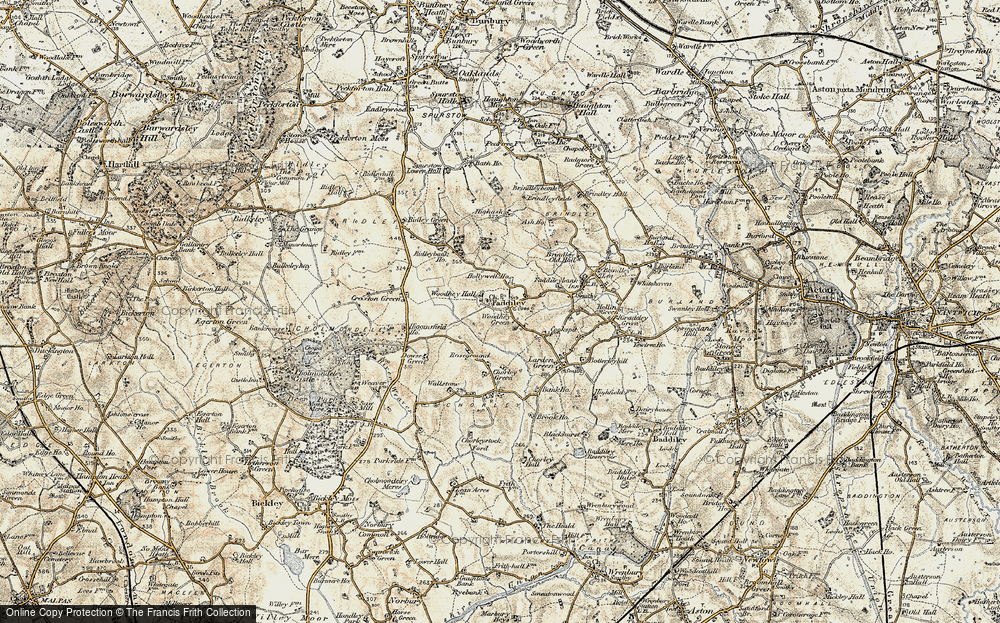 Old Map of Woodhey Green, 1902 in 1902