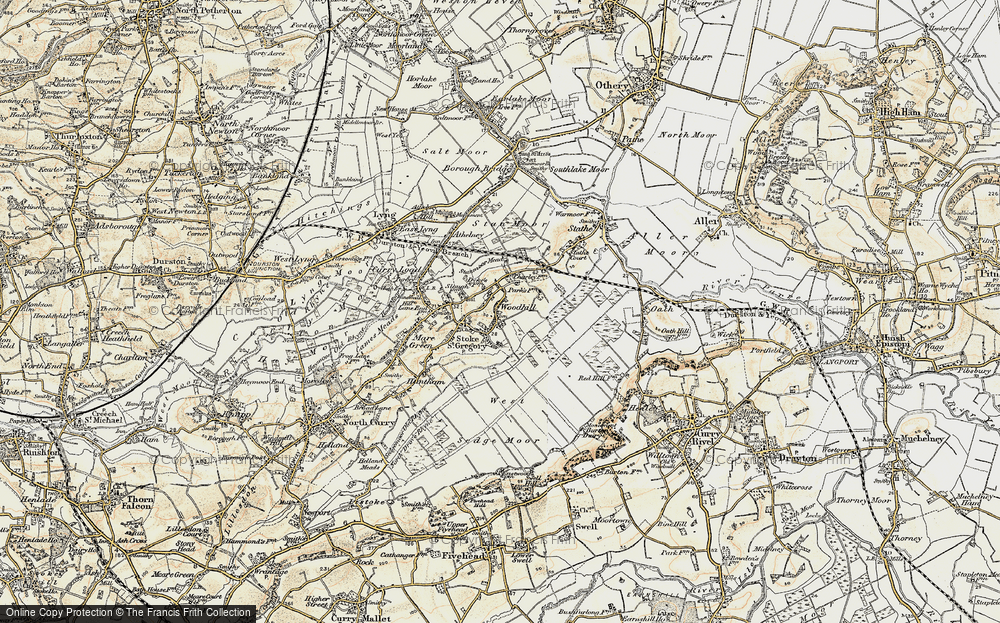 Old Map of Woodhill, 1898-1900 in 1898-1900