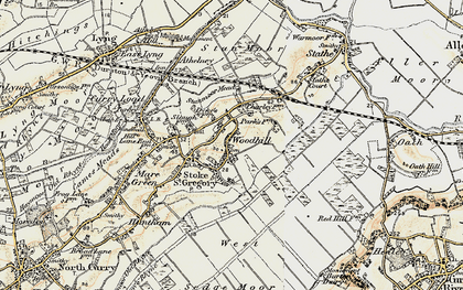 Old map of Woodhill in 1898-1900