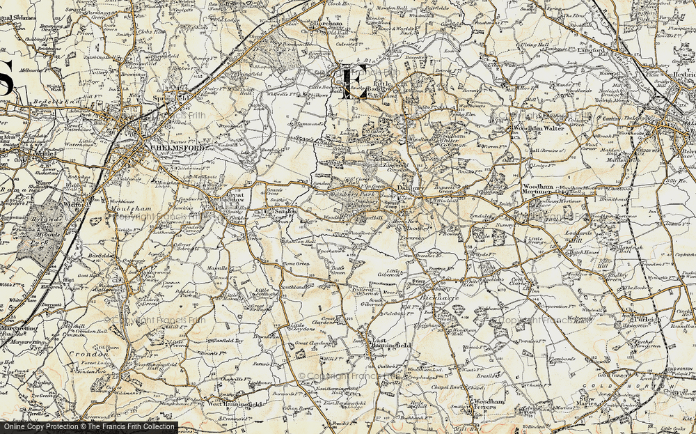 Old Map of Woodhill, 1898 in 1898