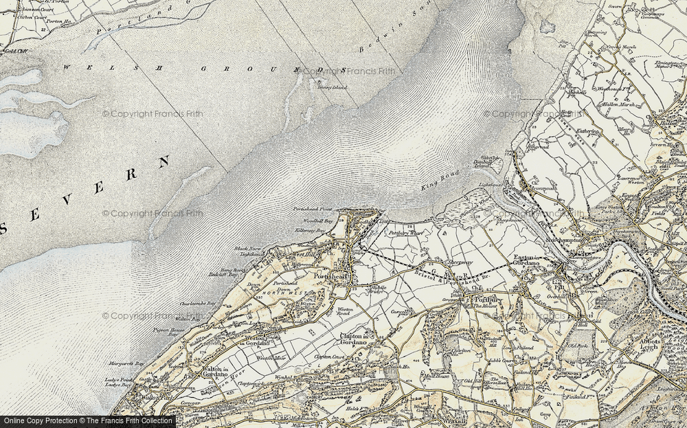Old Map of Woodhill, 1899-1900 in 1899-1900