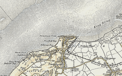 Old map of Woodhill Bay in 1899-1900