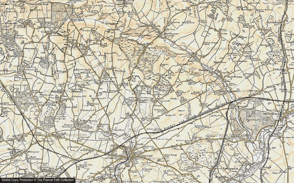 Old Map of Woodhouse, 1897-1900 in 1897-1900