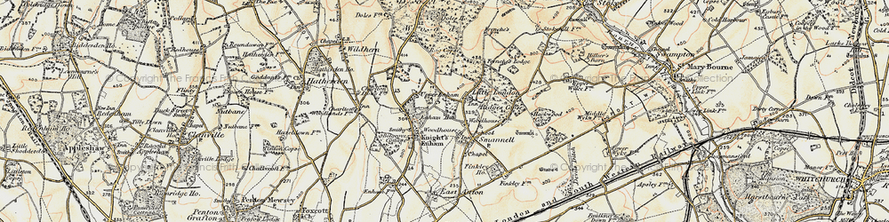 Old map of Woodhouse in 1897-1900