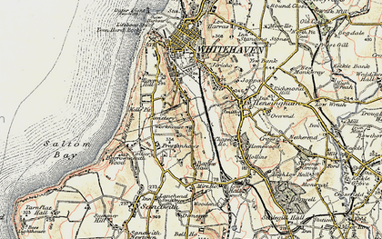 Old map of Woodhouse in 1901-1904
