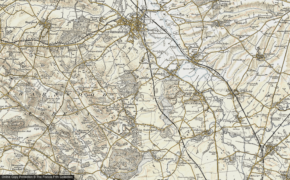 Old Map of Woodhouse, 1902-1903 in 1902-1903